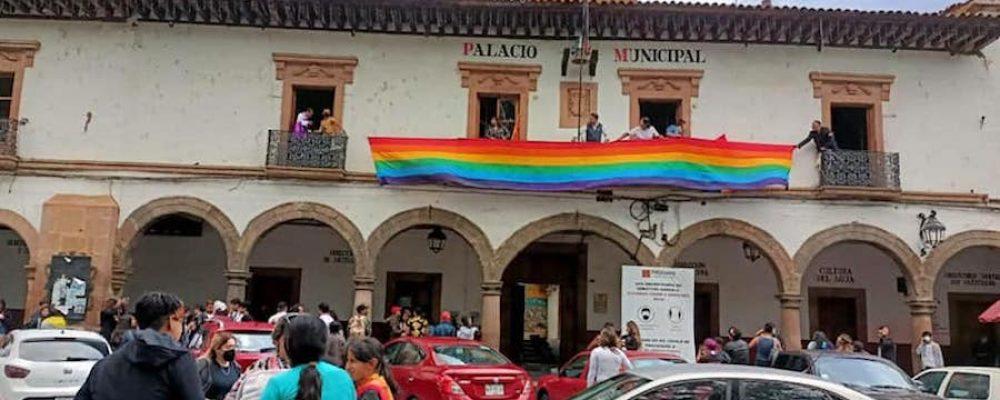 Primera Marcha LGBTTTIQ+ en Pátzcuaro
