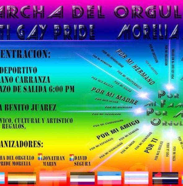 Marcha del orgullo LGBTTTI Gay Pride Morelia